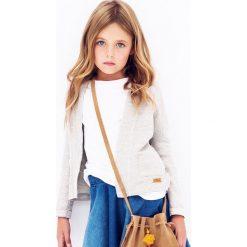 Nativo - Kardigan dziecięcy 104-152 cm. Szare swetry dziewczęce marki Nativo, z bawełny. W wyprzedaży za 49,90 zł.