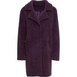 """Płaszcz """"baranek"""" bonprix lila. Fioletowe płaszcze damskie bonprix, z haftami. Za 239,99 zł."""