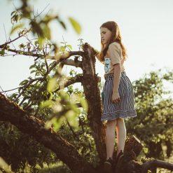 Odzież dziecięca: Spódnica z falbaną w paski
