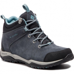 Trekkingi COLUMBIA - Fire Venture Mid Suede Waterproof BL1717 Graphite/Storm 053. Szare buty trekkingowe damskie Columbia. W wyprzedaży za 349,00 zł.