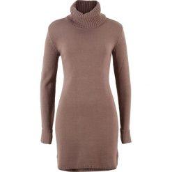 Sukienki: Sukienka dzianinowa bonprix matowy brązowy