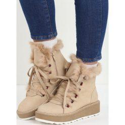 Beżowe Śniegowce Everything is Perfect. Brązowe buty zimowe damskie Born2be, na płaskiej podeszwie. Za 99,99 zł.