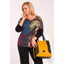Bluzki asymetryczne: Bluzka z barwnym, kwiatowym nadrukiem