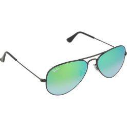 """Okulary przeciwsłoneczne męskie: Okulary męskie """"Aviator Large"""" w kolorze czarno-zielonym"""