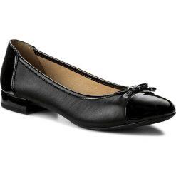 Baleriny GEOX - D Wistrey F D724GF 08502 C9999 Black. Czarne baleriny damskie marki Geox, ze skóry ekologicznej, na płaskiej podeszwie. W wyprzedaży za 279,00 zł.