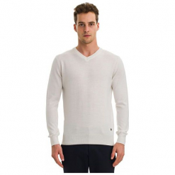 Galvanni Sweter Męski Wodonga L Kremowy. Białe swetry klasyczne męskie GALVANNI, l, z wełny. W wyprzedaży za 269,00 zł.