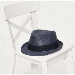 Kapelusze męskie: Pleciony kapelusz - Niebieski