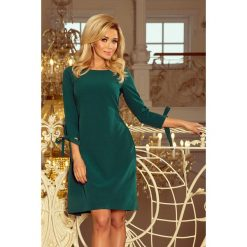 Carmen Sukienka z kokardkami - ZIELONA. Zielone sukienki balowe numoco, s, z kołnierzem typu carmen, rozkloszowane. Za 159,99 zł.