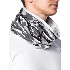 KOMIN MĘSKI A063 - SZARY/MORO. Szare szaliki męskie Ombre Clothing, moro, z bawełny. Za 14,99 zł.