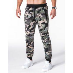 Spodnie dresowe męskie: SPODNIE MĘSKIE DRESOWE P694 - ZIELONE/MORO