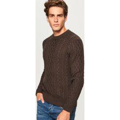 Sweter - Bordowy. Szare swetry klasyczne męskie marki Reserved, l. Za 99,99 zł.