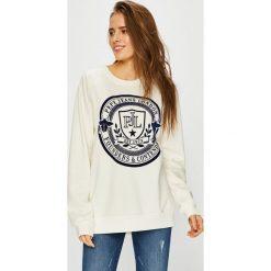Pepe Jeans - Bluza. Szare bluzy rozpinane damskie Pepe Jeans, l, z aplikacjami, z bawełny, bez kaptura. Za 279,90 zł.