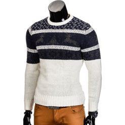 Swetry męskie: SWETER E94 – BIAŁY