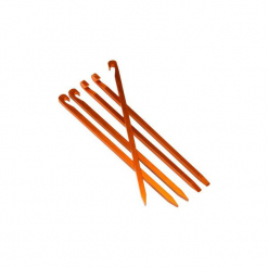 Lekkie szpilki do namiotu turystycznego (x5). Pomarańczowe szpilki marki QUECHUA. Za 29,99 zł.