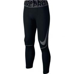 Chinosy chłopięce: Nike Spodnie juniorskie Pro Hyperwarm Tight czarne r. L  (838054)