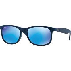 Ray-Ban - Okulary Andy. Brązowe okulary przeciwsłoneczne męskie aviatory Ray-Ban, z materiału. Za 499,90 zł.