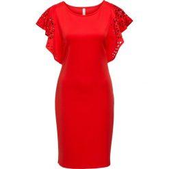 Sukienki: Sukienka z wycięciami bonprix czerwony