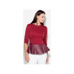 Bluzka K073 Bordo. Czerwone bluzki damskie marki KATRUS, l. Za 99,00 zł.