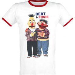T-shirty męskie z nadrukiem: Ulica Sezamkowa Ernie & Bert T-Shirt biały/czerwony