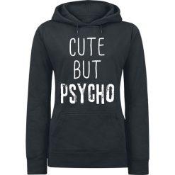 Bluzy rozpinane damskie: Cute But Psycho Bluza z kapturem damska czarny