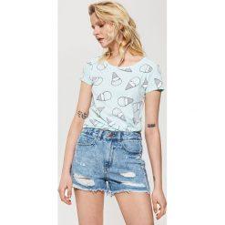 T-shirty damskie: T-shirt z nadrukiem - Zielony