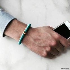 Biżuteria i zegarki: Bransoletka męska TURQIS SKULL
