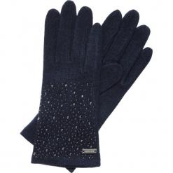 Rękawiczki damskie 47-6-105-7. Niebieskie rękawiczki damskie Wittchen, z wełny. Za 59,00 zł.