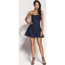Granatowa Mini Sukienka z Odkrytymi Ramionami. Niebieskie sukienki mini marki Reserved, z odkrytymi ramionami. Za 238,90 zł.