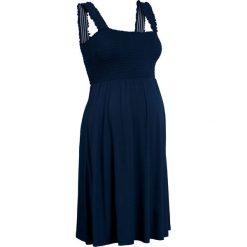 Sukienki: Sukienka ciążowa shirtowa bonprix ciemnoniebieski