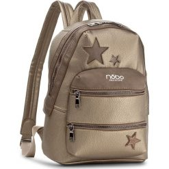 Plecak NOBO - NBAG-D4040-C023 Złoty. Żółte plecaki damskie Nobo, ze skóry ekologicznej. W wyprzedaży za 139,00 zł.