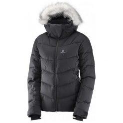 Salomon Icetown Jkt W Black Heather S. Brązowe kurtki damskie narciarskie Salomon, na zimę, s, z materiału. W wyprzedaży za 1149,00 zł.
