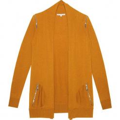 Kardigan kaszmirowy w kolorze musztardowym. Żółte kardigany damskie marki Ateliers de la Maille, z kaszmiru. W wyprzedaży za 682,95 zł.