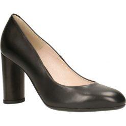 Czółenka IZO. Czarne buty ślubne damskie Gino Rossi, ze skóry, na wysokim obcasie, na słupku. Za 299,90 zł.