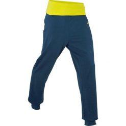 Spodnie dresowe damskie: Spodnie dresowe z wywijanym paskiem, długie bonprix ciemnoniebieski
