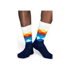 Skarpetki Happy Socks - Faded Diamond (FD01-105). Czerwone skarpetki męskie Happy Socks, z bawełny. Za 34,90 zł.