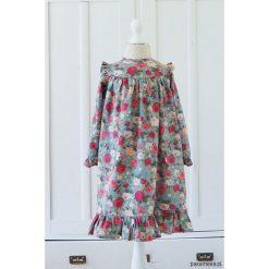 Sukienka w jesienne róże. Czerwone sukienki dziewczęce z falbanami marki Pakamera, na jesień, z bawełny. Za 179,00 zł.