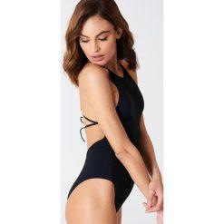 Stroje kąpielowe damskie: Filippa K Strój jednoczęściowy z wiązaniem na plecach - Black