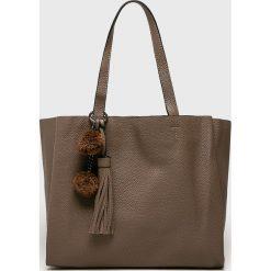 Answear - Torebka. Brązowe torebki klasyczne damskie ANSWEAR, z materiału, duże. Za 149,90 zł.