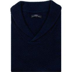 Sweter GERALDO SWGR000154. Niebieskie swetry klasyczne męskie Giacomo Conti, m, z tkaniny, dekolt w kształcie v. Za 229,00 zł.