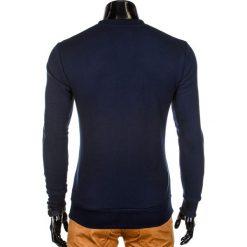 BLUZA MĘSKA BEZ KAPTURA B701 - GRANATOWA. Niebieskie bluzy męskie rozpinane marki Ombre Clothing, m, z bawełny, bez kaptura. Za 59,00 zł.