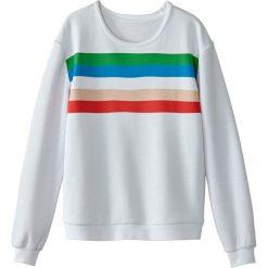 Bluza w paski. Szare bluzy damskie marki La Redoute Collections, m, z bawełny, z kapturem. Za 126,38 zł.