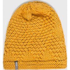 Answear - Czapka. Pomarańczowe czapki zimowe damskie ANSWEAR, z dzianiny. W wyprzedaży za 39,90 zł.