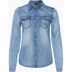 Vila - Damska koszula jeansowa – Vibista, niebieski. Niebieskie koszule jeansowe damskie Vila, m. Za 179,95 zł.