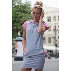 Sukienki: Sukienka J Szara 7833