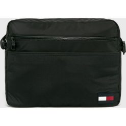 Tommy Hilfiger - Torba. Czarne torby na laptopa marki TOMMY HILFIGER, w paski, z materiału. Za 449,90 zł.