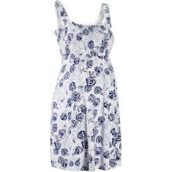 Sukienka ciążowa shirtowa bonprix biało-kobaltowy w kwiaty. Czarne sukienki ciążowe marki bonprix, z dżerseju, moda ciążowa. Za 89,99 zł.