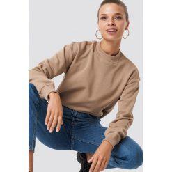 NA-KD Basic Bluza basic - Brown. Różowe bluzy damskie marki NA-KD Basic, prążkowane. Za 100,95 zł.