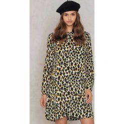 Sukienki hiszpanki: Samsoe & Samsoe Sukienka Marice LS Aop – Multicolor,Yellow