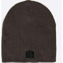 G-Star Raw - Czapka. Czarne czapki zimowe męskie G-Star RAW, na zimę, z bawełny, retro. W wyprzedaży za 89,90 zł.