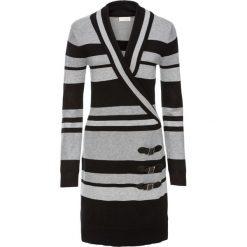 Sukienka dzianinowa bonprix czarny w paski. Niebieskie sukienki dzianinowe marki Molly.pl, l, dopasowane. Za 99,99 zł.